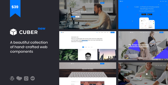 Image of Cuber | Responsive Multipurpose WordPress Theme