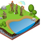 Earth Exploration Isometric Composition