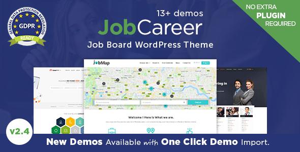 JobCareer | Job Board Responsive WordPress Theme - Directory & Listings Corporate