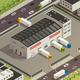 Logistic Trucking Isometric Illustration