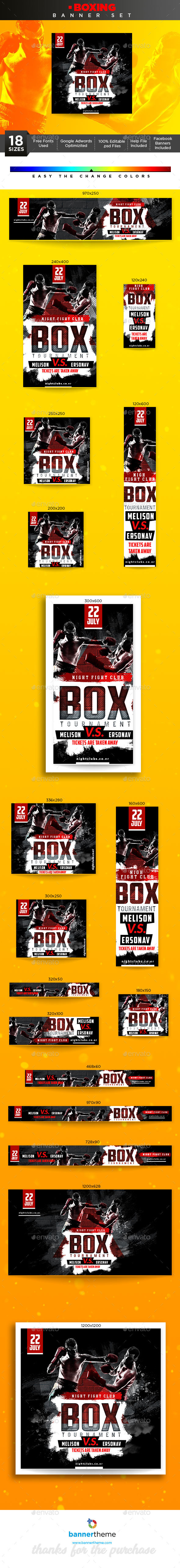 Boxing Banner - Banners & Ads Web Elements