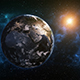 Planet Earth Rotation at Night with Space Background - VideoHive Item for Sale