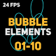 Liquid Elements 3 Bubbles 01-10 - VideoHive Item for Sale