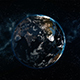 Realistic Earth Rotating in Space Globe as it Gets Dark You See Cities - VideoHive Item for Sale