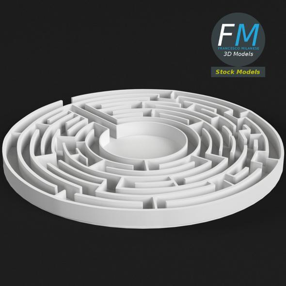 Circular Labyrinth - 3DOcean Item for Sale