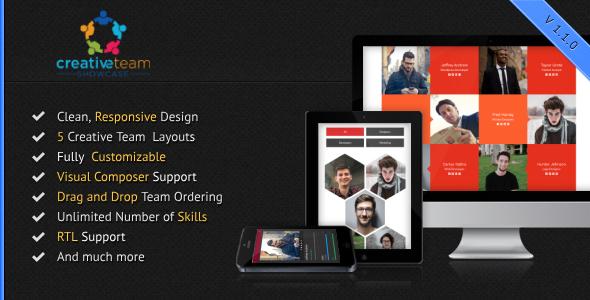 Creative Team Showcase for WordPress - CodeCanyon Item for Sale