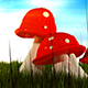 Cartoon Mushrooms - VideoHive Item for Sale