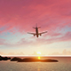 Airplane Leaving Tropical Paradise - VideoHive Item for Sale