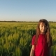 Girl in a Field of Wheat. - VideoHive Item for Sale