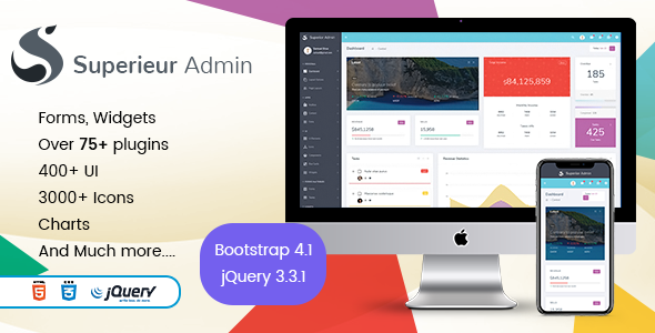 Superieur Admin - Responsive Bootstrap 4 Admin Template Dashboard Web App