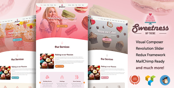 Image of Sweetness - One Page WordPress Theme