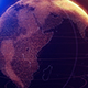 Digital Shinny Globe of Earth Rotation for News Intro - VideoHive Item for Sale