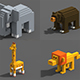 Voxel Animals - 3DOcean Item for Sale