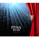 Background With Red Velvet Curtain and Hand - GraphicRiver Item for Sale