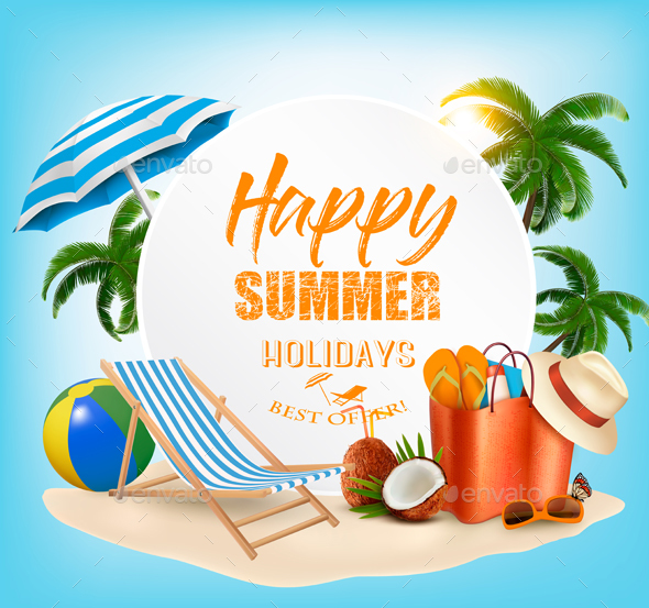 Summer Vacation Concept Background - Travel Conceptual
