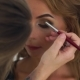 Makeup Artist Doing Fashion Makeup Face To Beauty Model - VideoHive Item for Sale