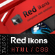 Red Ikons - 3D Creative Style Nulled