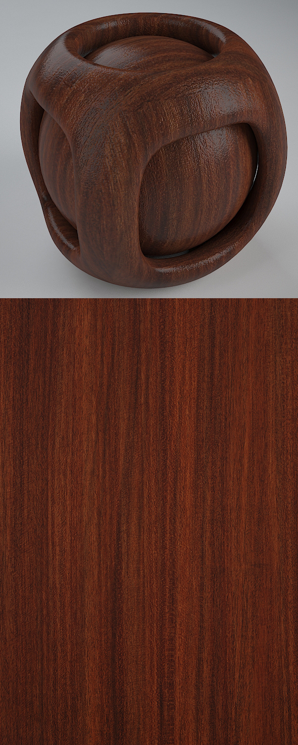 Real Plywood Vray Material Brown Sapell - 3DOcean Item for Sale