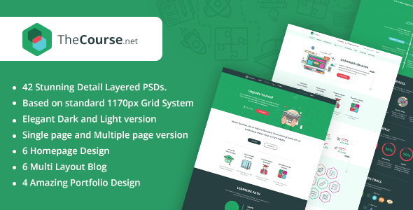 TheCourse | Multipurpose Education PSD Template - Corporate PSD Templates
