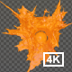 Orange Juice Drop Splash 4K - VideoHive Item for Sale