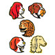 Hound Dogs Mascot Collection - GraphicRiver Item for Sale