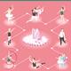 Ballet And Ballerinas Isometric Flowchart