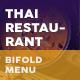 Thai Restaurant Bifold / Halffold Menu 5