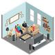 Family Home Isometric Interior