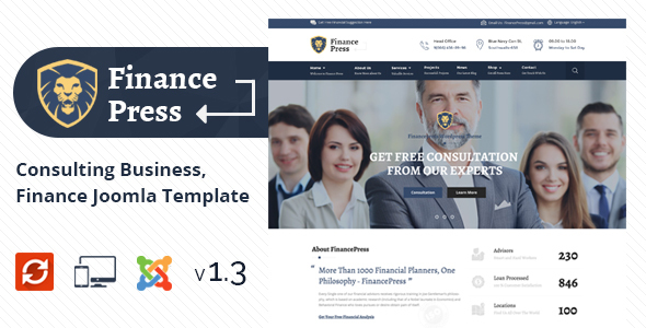 Finance Press - Consulting Business, Finance Joomla Template - Business Corporate
