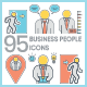 Business People Icons - Color Line