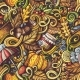 Cartoon Doodles Autumn Seamless Pattern