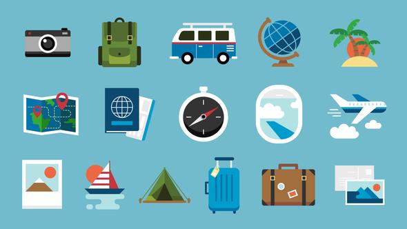 Graphicriver - 16 Travel Icons 22198499