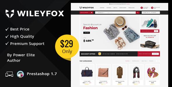 Wileyfox Mega - Responsive Prestashop 1.7.x Theme