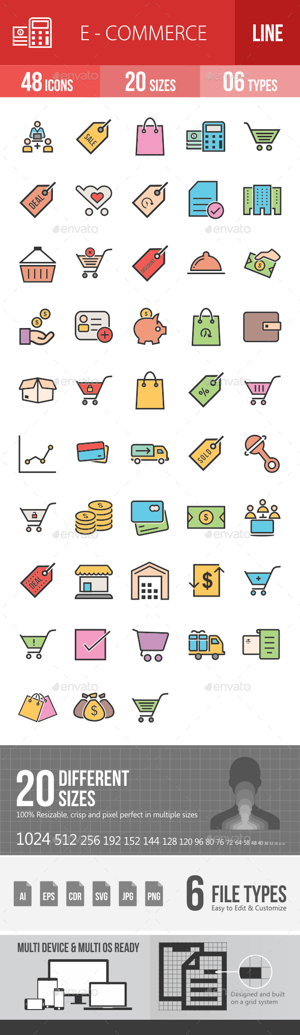 Ecommerce Filled Line Icons - Icons