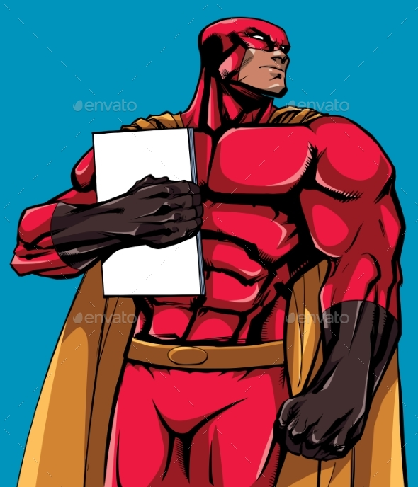 Superhero Holding Book - People Characters