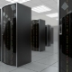 Moving Slowly Through Server Room in Datacenter - VideoHive Item for Sale