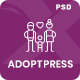 AdoptPress - Child & Pet Adoption Charity PSD Template