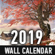 2019 Wall Calendar - GraphicRiver Item for Sale