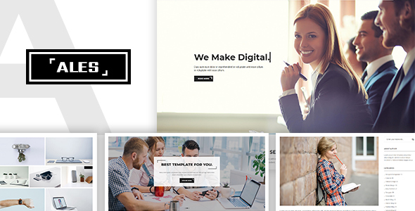 Ales - Creative Multipurpose Digital Agency Template - Creative Site Templates