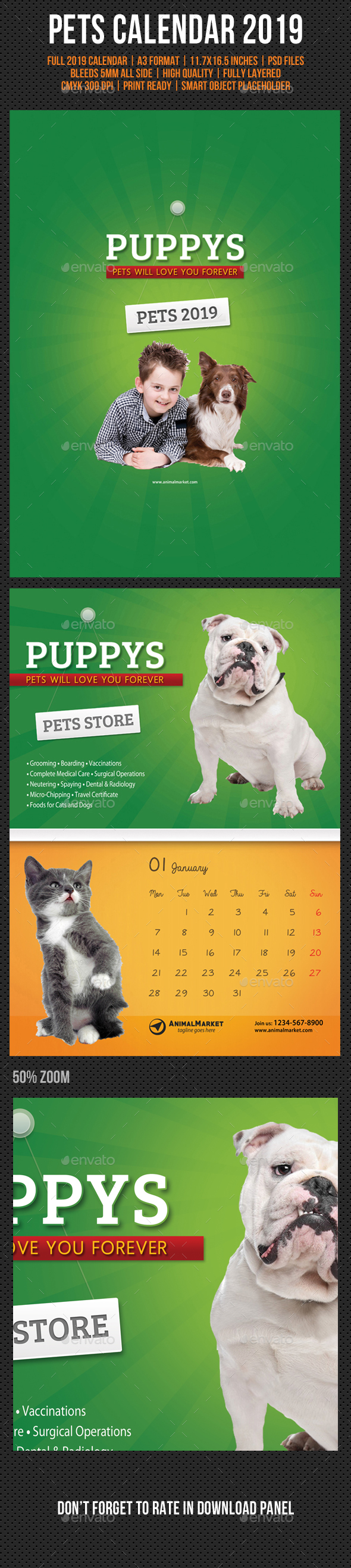 Pet Shop Wall Calendar 2019 - Calendars Stationery
