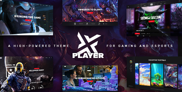 PlayerX - A High-powered Theme for Gaming and eSports - Entertainment WordPress