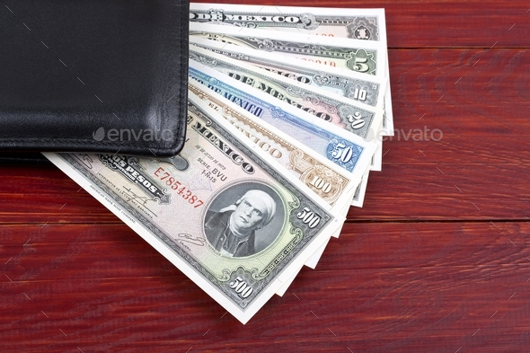 Money From Mexico In The Black Wallet