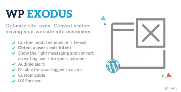 WP Exodus: Marketing Messages Popup When Visitors Try to Leave Your Site - CodeCanyon Item for Sale