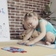 Small Girl Collects Words From the Puzzle - VideoHive Item for Sale