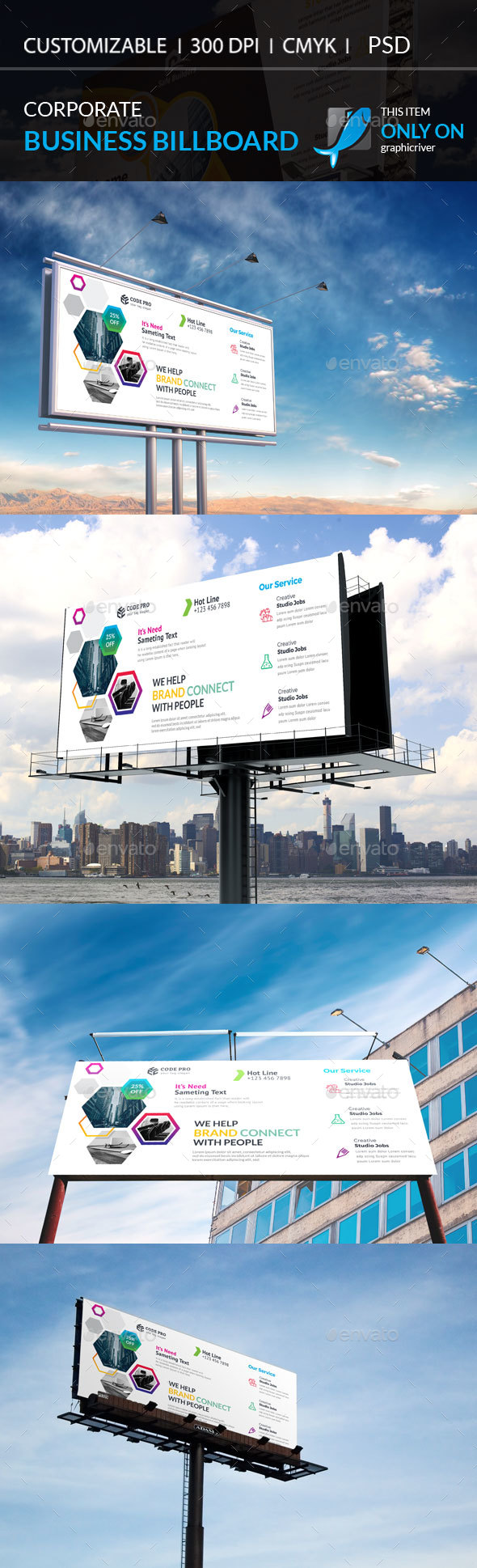 Corporate Billboard Template - Stationery Print Templates