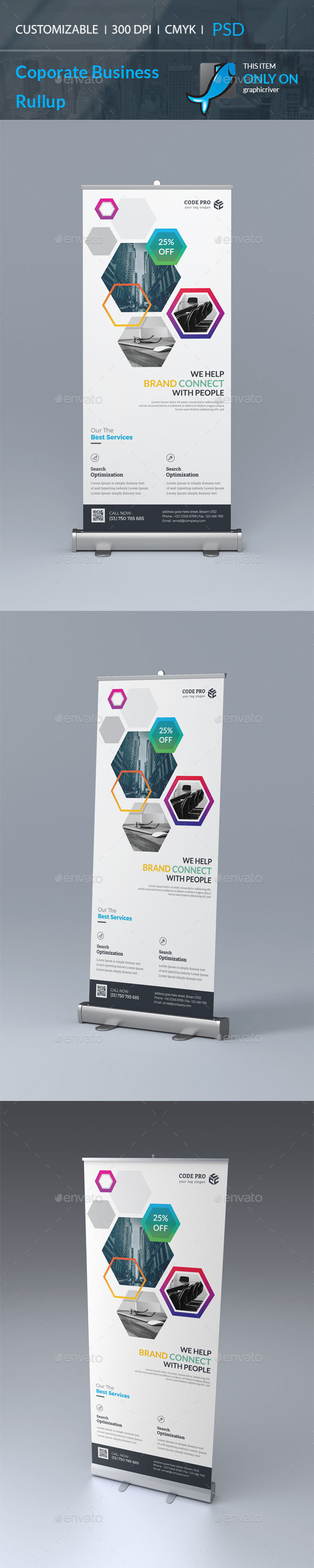 Corporate Roll Up - Stationery Print Templates