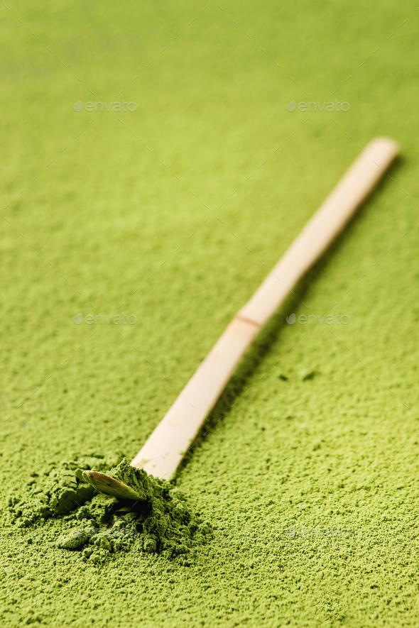 Green tea matcha powder - Stock Photo - Images