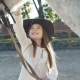 Young Happy Girl Smiling and Caressing Her Pretty White Horse on the Area - VideoHive Item for Sale