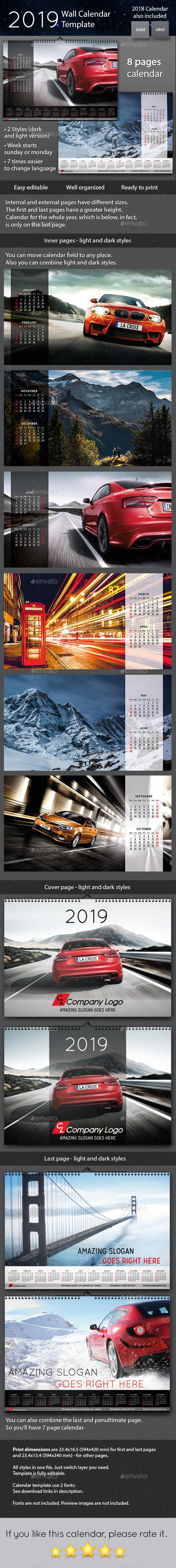 2019 Wall Calendar - Calendars Stationery