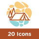 20 Travel Summer icon sets - GraphicRiver Item for Sale